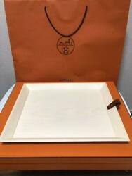 Sale Hermes Safekeeping Wooden Dinner Tray 43 35cm From Japan Fedex No.9167