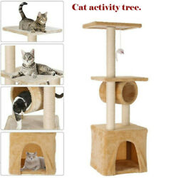 Cat Activity Tree+cat Tower Kittens Pet Play House Condo Scratching Sisal Post