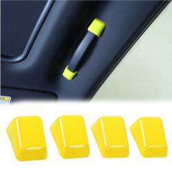 Roof Grab Handle Decor Trim Cover Accessories For Dodge Challenger 2010+ Yellow
