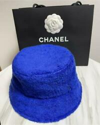 Chanel Bucket Hat Blue Cotton Size M Fluffy Almost Unused 546 MA $1208.99