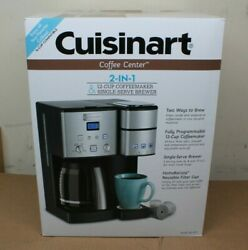 Cuisinart Coffee Center 2-in-1 12-cup Coffeemaker And Single-serve Brewer