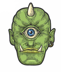 2 Pcs Vinyl Stickers Set For Car And Other Surfaces Cyclops Myth Halloween