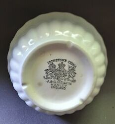 Antique White Ironstone Bowl Little Ribs J And G Meakin 1890and039s
