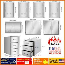 Bbq Double Single Doors Drawer Kitchen Stainless Steel Access Door Multi-sizes