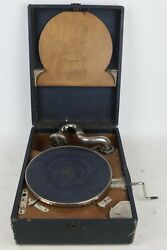 Vintage Victor Orthophonic Phonograph Portable Record Player - Tested/working