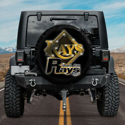 Spare Tire Cover For Jeep Wrangler [new] Tampa Bay Rays Baseball Mlb Mascot