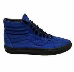 Vans Mens 721500 Off The Wall High Top Blue Athletic Sneaker Shoes Size 10