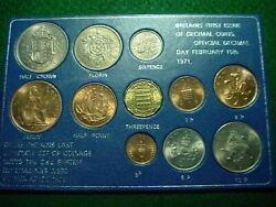 Britains Last Complete 1967 Set And Britains 1rst Issue Of Decimal Coins