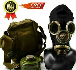 Pmg-2 Gp-5m Black Gas Mask Ussr   Full Set   Free Delivery   S,m,xl Size