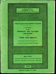 Sotheby And Co. The Palace Collections Of Egypt. Auction Catalogue 2/24 And 3/3/1954