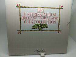 1987 Uk Brilliant Uncerculated Coin Collection