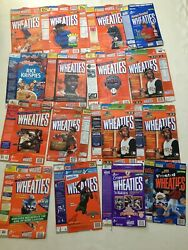 Lot Of Over 40 Vintage Cereal Boxes Wheaties Cheerios Ect
