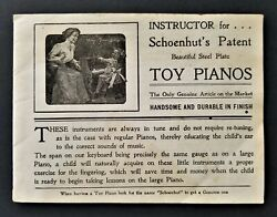 Antique Schoenhut Catalog W Music Piano Circus Shooting Gallery Doll Toy Chimes