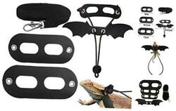 5 Pack Halloween Bearded Dragon Harness and Leash Adjustable SML Soft