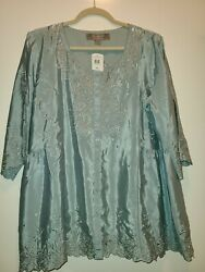 Coldwater Creek Sandpoint Blouse,fully Lined