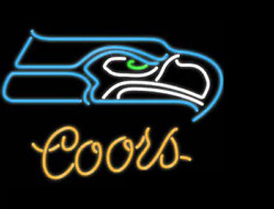 New Seattle Seahawks Coors Light Neon Sign Beer Bar Pub Gift 20x16