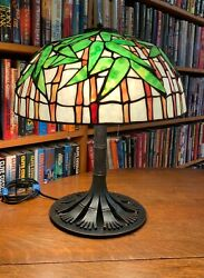 Studios Reproduction 16 Inch Bamboo Lamp And Bronze Base