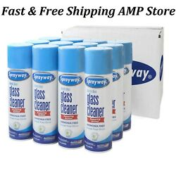 12 Pk Sprayway Glass Cleaner 19 Oz. Cans Free Shipping