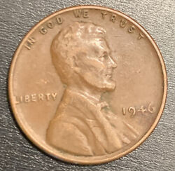 1946 Lincoln Wheat Penny No Mint Mark Rare One Cent Coin