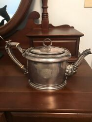 Very Rare Wm Gale And Son Sterling Silver Coffee/tea Pitcher, Approx. 24 Troy Ounc