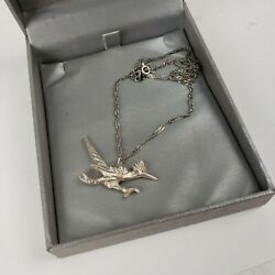 Sterling Silver Road Runner Pendant On 18 Box Link Silver Necklace Chain