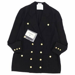 Vintage Gold Button Double Breasted Jacket Outer Womenand039s 38 No.5858