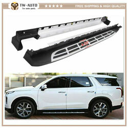 Side Steps Nerf Bar Running Boards Protector Fit For Hyundai Palisade 2020 2021