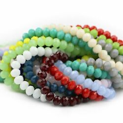 Faceted Ball Crystal Bead Flat Round Loose Beads Bracelets Necklace Making 50pcs