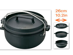 Snow Peak Cast Iron Oven 26cm/10.2in Dutch Oven Cs-520 Fast F/s From Japan