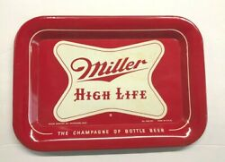 Excellent Condition Miller High Life Beer Metal Tin Litho Tip Tray Milwaukee Wi