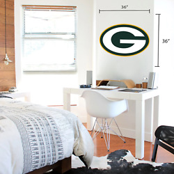 Green Bay Packers 36x36 Team Logo Repositional Wall Decal