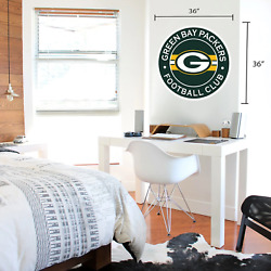 Green Bay Packers 36x36 Team Stripe Logo Repositional Wall Decal