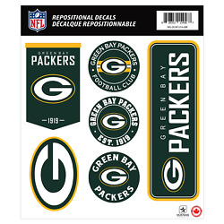 Green Bay Packers 12x14 Repositional Wall Decal Pack