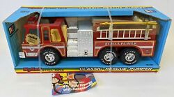 Vintage 1986 Nylint Pressed Steel Classic Fire Pumper Rescue Truck 530 Sealed