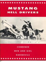 Mustang Hell Drivers Auto Daredevil Show Program 1970-jumps-crashes-precision...