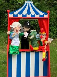 The Puppet Company Punch And Judy Set Of 4 Puppets New With Tags Uk Seller