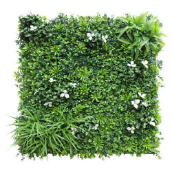 40x 40artificial 3d 02mix Ivy Fence Mat Wall Hedge Decor Ties Fence Panel Usa