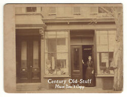 697 Tremont St., Boston, Ma - Early Photo Of Shops, Storefronts, Cabinet Card