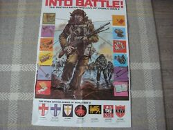War British Infantry Ww 2 Rare Poster Issued By I. P. C.magazines 1975 Vg