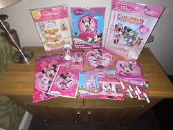Minnie Mouse Birthday Party Decorations Plates Napkins Cup Tablecover And More