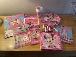 Minnie Mouse Party Supplies Birthday Decorations Plates Napkins Cup Invitations
