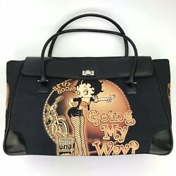 Betty Boop Large Bag Travel Tote Gym Bag Novelty King Feature 2004 Rhinestones