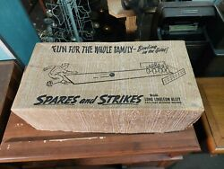 Vintage Klauber Spares And Strikes Bowling Games With Box