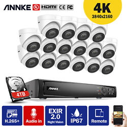 Annke 8ch/16ch 4k Poe Nvr 8mp Hd Ip Network Security Audio Camera System 0-4tb
