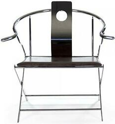 Azure Arm Chair Leather Stainless Steel Tabacco