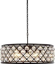 Madison Pendant 8-light Polished Nickel Clear Crystal Faceted Royal-cut F