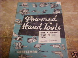 1956 Sears Craftsman Powered Hand Tools Booklet Used