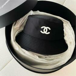 Authentic Chanel Bucket Hat Black Free Shipping No.6798 $1823.35