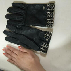 Authentic Globe Black Chain Glove The Real Thing Free Shipping No.7206