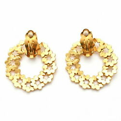 Pole Coco Mark Round Swing Earring 96p Gp Gold P0971 Previously No.4952